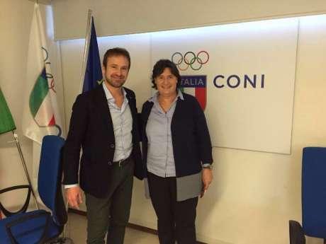 Firenze, 10-2-16: visita dell'Assessore regionale Saccardi al CONI Toscana