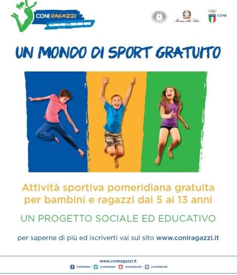1bc54f6e189f22 CONI RAGAZZI: l'attività sportiva pomeridiana gratuita per bambini e ...